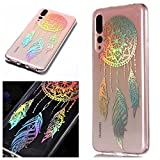 For Huawei P20 Pro Case Clear Silicone Phone Cover and Screen Protector, OYIME Creative Plating Design with Bright Pattern Skin Ultra Thin Slim Soft Silicone Rubber Glitter Brilliant Transparent Protective Back Cover Anti-Scratch Drop Protection Shockproof Bumper Cases - Dream Catcher