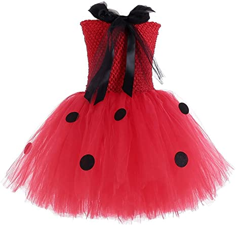 MYRISAM Disfraz de Ladybug para Niña Halloween Dress Up Cosplay ...