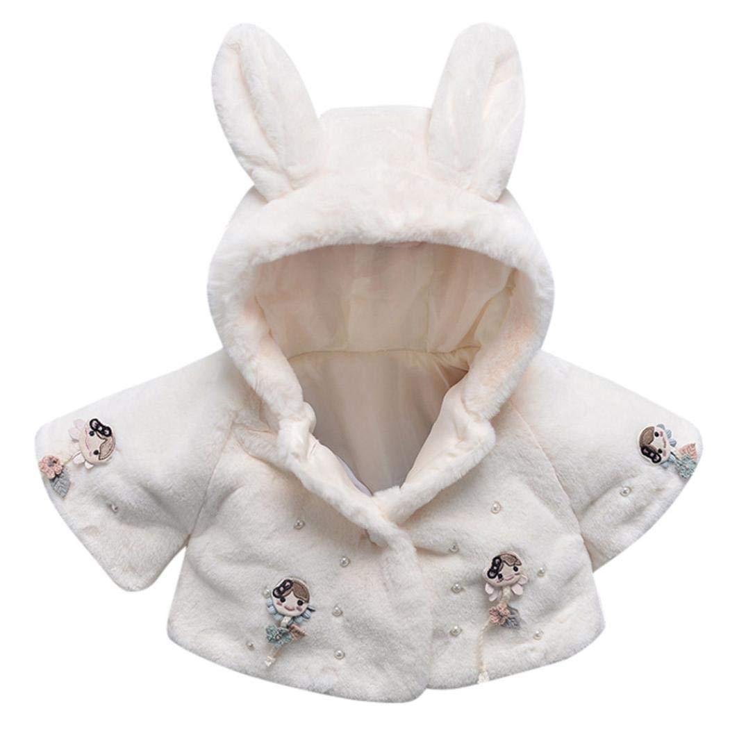 Muxika Dinlong Fashion Baby Girl Fur Winter Warm Coat Cloak Jacket Thick Warm Clothes Din_95