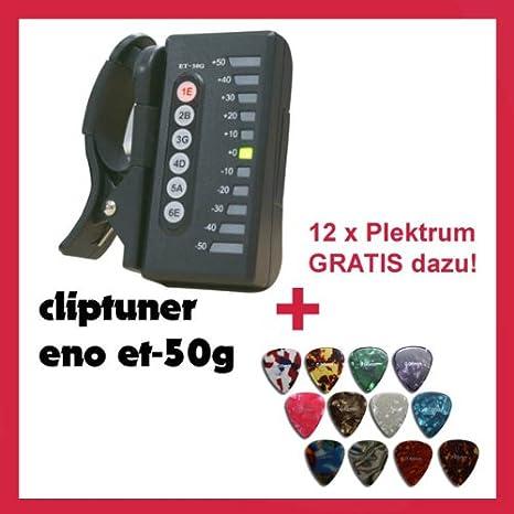 Afinador Sintonizador - Clip para guitarra - Eno Clip et50g + 12 x ...