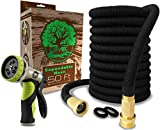 Garden Hose 50 Ft by LOVEL | Expandable Hose 50 Ft , Hose Nozzle 9 Settings, Brass Fittings Enjoy Watering With Your Flexible Hose Quick Connect, Water Hose For All Uses Expands 3X, High pressure