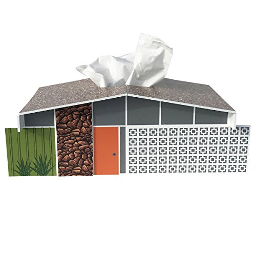 Destination PSP Midcentury Twin Palms House Tissue Box Cover (Palm Tissue Box Cover)