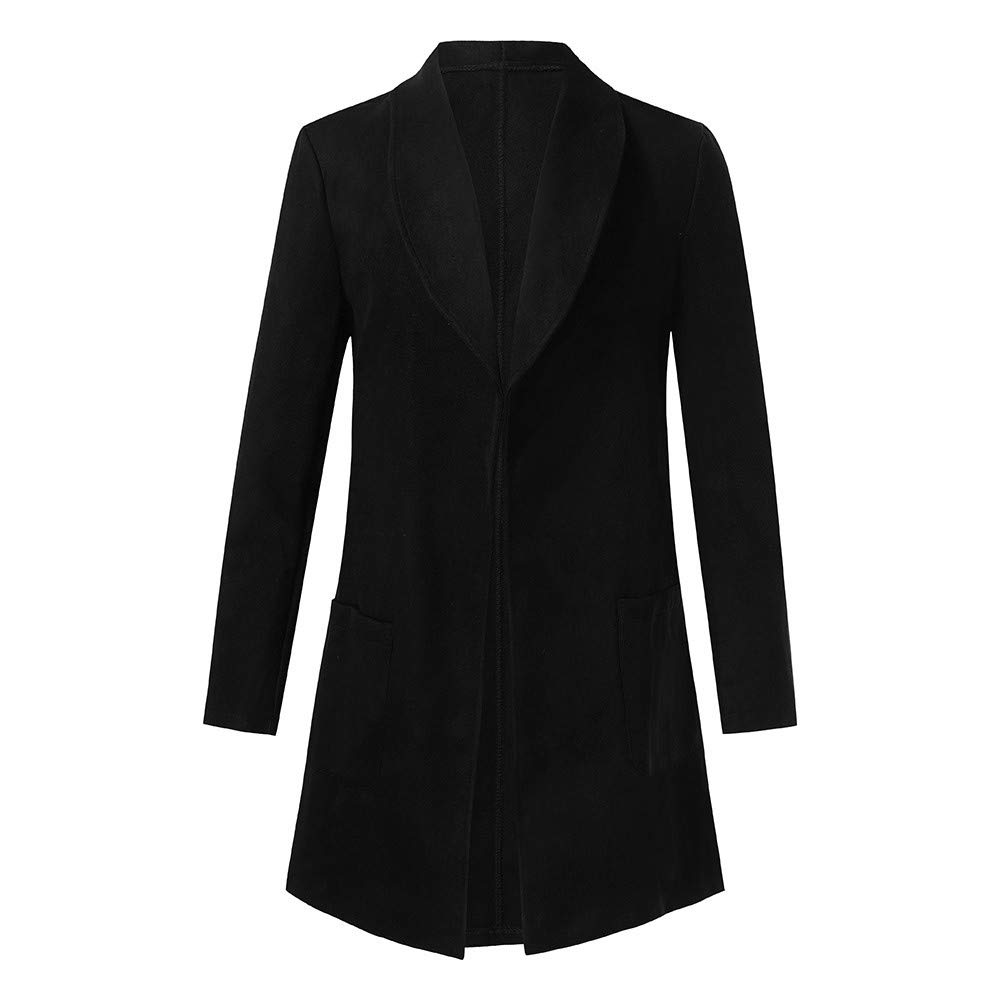 FarJing Fashion Mens Coat Winter Warm Slim Fit Long Sleeve Trench Jacket Outwear Top