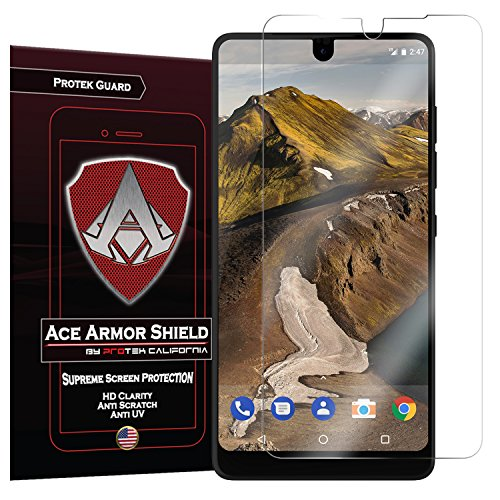 Essential Phone PH-1 2017 Screen Protector (Case Friendly) (2-Pack), Ace Armor Shield Protek Guard HD Full Coverage Screen Protector for Essential Phone Scratch-Free Film