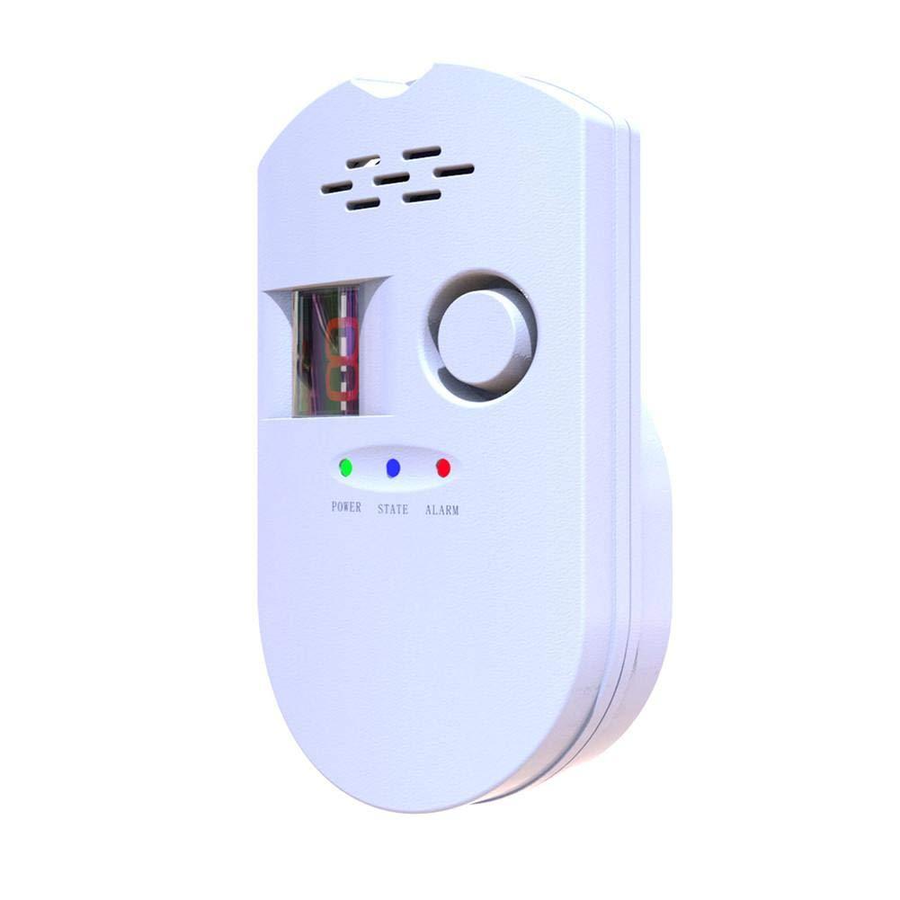 Là Vestmon Plug-in Digital Gas Detector/Gas Alarm Detector/Gas Leak Detector High Sensitivity LPG LNG Coal Natural Gas Leak Detection Alarm Monitor Sensor for Home/Kitchen