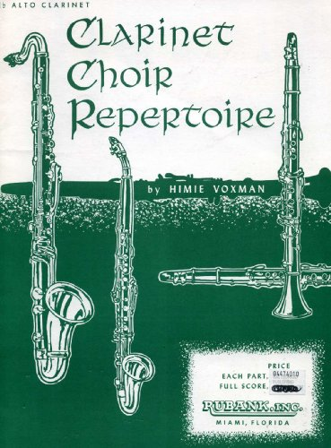 Clarinet Choir Repertoire (E-flat Alto Clarinet)