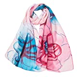 Scarf Clearance, Women Flower Printing Scarves Ladies Long Soft Wrap Scarf Shawl (Pink)