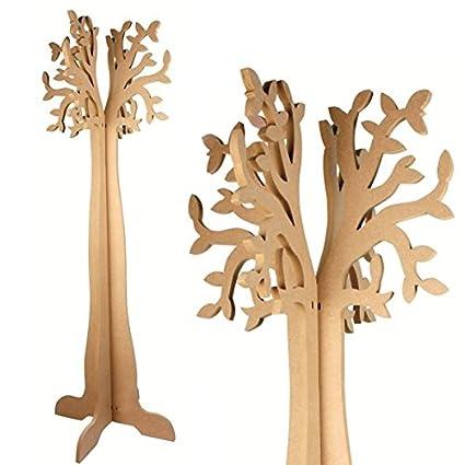 MegaCrea DIY Perchero árbol con boquillas - MDF - 120 x 49 x ...