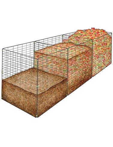 3-Bin Wire Composter - Garden Compost