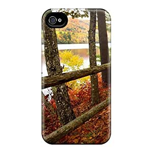 Hard Plastic Iphone 4/4s Case Back Cover,hot Wyman Lake In Autumn Case At Perfect Diy
