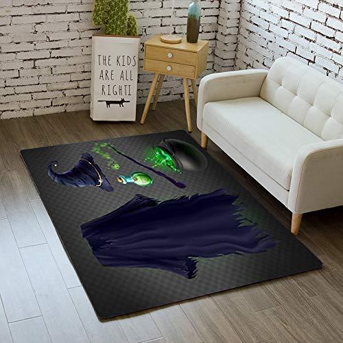 iBathRugs Door Mat Indoor Area Rugs Living Room Carpets Home Decor Rug Bedroom Floor Mats,Vector Set Witch Costume Halloween