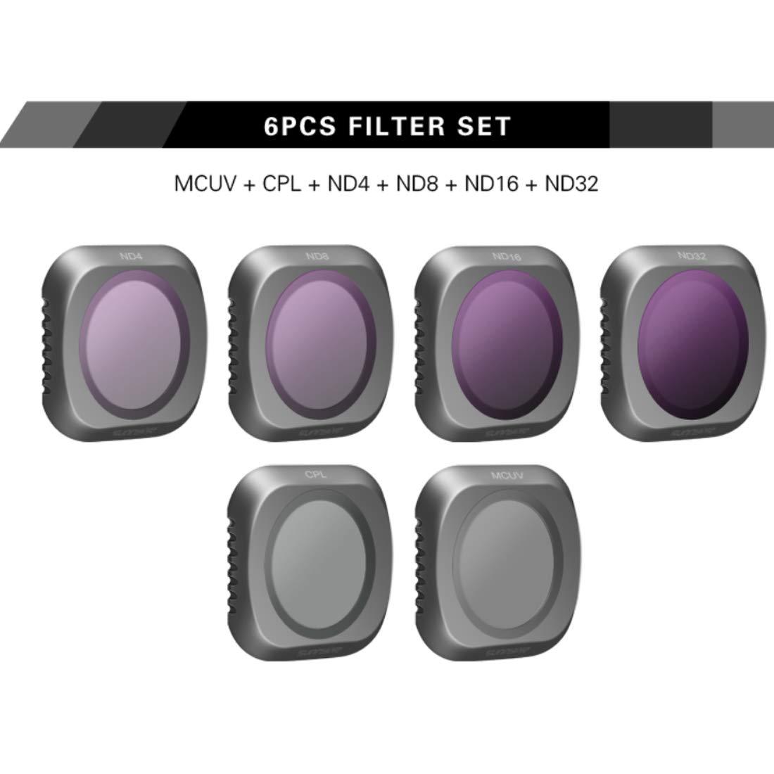 LoKauf 6St. Drone Filterset für DJI Mavic 2 PRO PRO PRO - MCUV CPL ND4 ND8 ND16 ND32 Filter 800f61