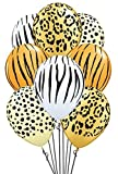 Qualatex Safari Assortment Biodegradable Latex Balloons, 11-Inch (24-Units)