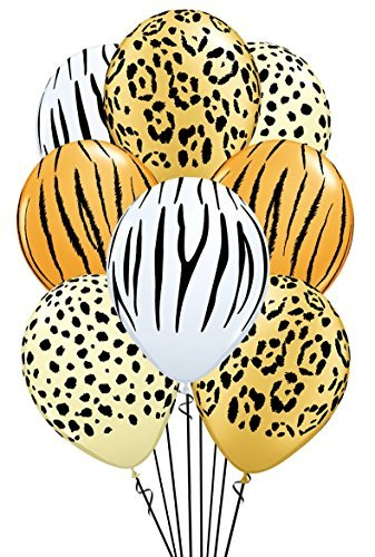 Qualatex Safari Assortment Biodegradable Latex Balloons, 11-Inch -