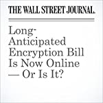 Long-Anticipated Encryption Bill Is Now Online — Or Is It? | Damian Paletta
