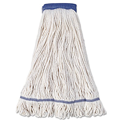 Mop Head, Super Loop Head, Cotton/Synthetic Fiber, X-Large, White, 12/Carton, Sold as 1 Carton, 12 Each per Carton by Boardwalk