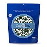 Colored Size 0 Empty Gelatin Capsules by Capsuline - Green/White 1000 Count