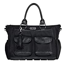 Itzy Ritzy Triple Threat Convertible Diaper Bag in Black Herring