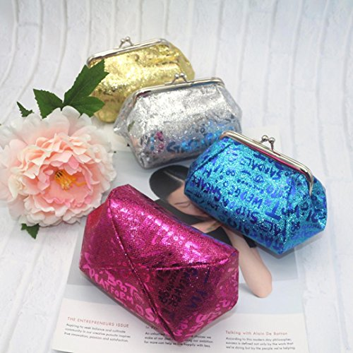 TOOPOOT Lady Blue Coin Bag Bag Purse Deals Women Reflector Coin Wallet Clearance Laser OwXqR4In