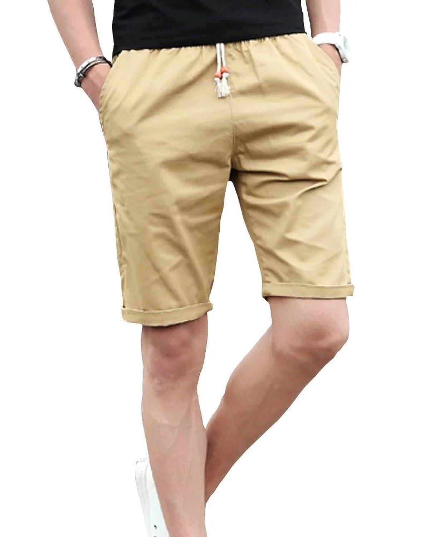Gxia Men's Casual Straight Big Yards Shorts
