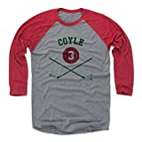 500 LEVEL's Charlie Coyle 3/4th Baseball T-Shirt XXL Red / Heather Gray - Charlie Coyle Sticks G - Minnesota Hockey Fan Gear Officially Licensed by the NHL Players Association