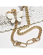 Fashionable Personality DIY Bag Accessories 50cm-150cm Replacement Gold Metal Chains (Color : 150cm Gold)