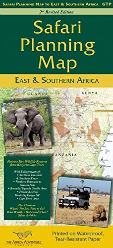 African Safari Planning Map to East and Southern Africa
