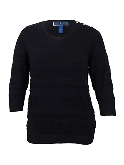 ed7ed4e88 Karen Scott Plus Size Solid Textured Sweater in Intrepid Blue at ...
