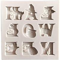 Hemoton 2 piezas letras molde de pastel bruja
