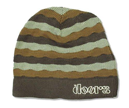 The Doors Lizard Logo Knit Striped Beanie Ski Hat