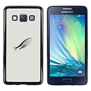 Be Good Phone Accessory // Dura Cáscara cubierta Protectora Caso Carcasa Funda de Protección para Samsung Galaxy A3 SM-A300 // Fish Mother Love Art Modern Simplistic Drawing