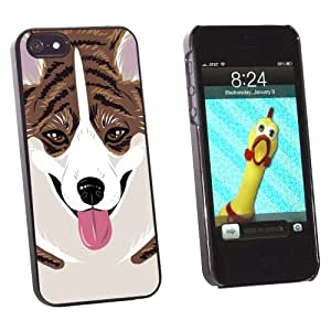 phone covers Graphics and More Cardigan Welsh Corgi Brindle Dog Pet Snap-On Hard Protective Case for Apple iPhone 5c - Non-Retail Packaging - Black