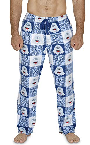 MJC Rudolph The Red-Nosed Reindeer Bumble Plush Lounge Pants For Men (Large) (Snow Monster From Rudolph The Red Nosed Reindeer)