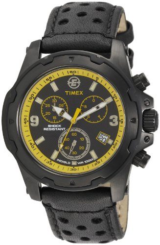 Timex Men's T497839J Expedition Rugged Field Chronograph Silver-Tone Black Face Watch