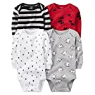 Carter's Baby Boys' 4 Pack Wintertime Bodysuits (Baby) - Wintertime 12M