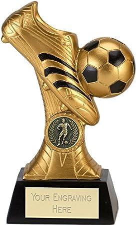 Venture A4016C Trofeo de fútbol, diseño de bota y pelota, 20 cm ...