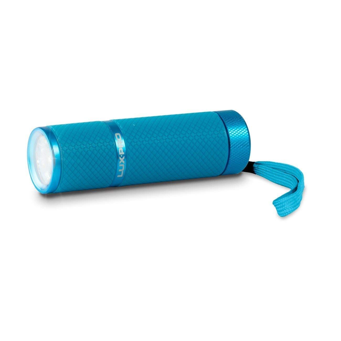 Lux-pro lp395-lb Gels Glow in Dark 9 LED Taschenlampe, Light Blau