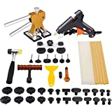 Mookis Paintless Dent Repair Tools Kit- PDR Tools 41PCS with Golden Dent Lifter + Pops a Dent Bridge Dent Puller Kit + Tap Down Tools Rubber Hammer+PDR Glue Sticks[Glue Gun Included]