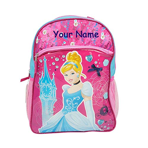 Disney Personalized Princess Cinderella Pink and Blue Backpack