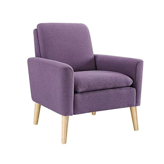 Modern Accent Chair, Single Sofa Linen Fabric Armchair (Purple), Great for Living Room, Office, Studio, Apartment, or Guest Room by Bliss Brands - ✔COMFORT & DURABILITY- Our Premium Brand of Linen Fabric is Extremely Comfortable & Durable. Its Soft & Luxurious feel makes it Comfortable, but Sturdy Enough to Last for Years. ✔FIT ANYWHERE- High Quality Linen Fabric Transcends Trends and Styles beautifully: Its Modern Look Makes It Especially Fitting for a Glamorous Room, but it can feel Equally at Home in Relaxed or Modern Spaces. ✔EASY TO SET UP- Our Armchair Includes Installation Guide and Tools to Help you set up your New Armchair Within Minutes. No Additional Tools required! - living-room-furniture, living-room, accent-chairs - 51mnw%2BTqSoL. SS570  -