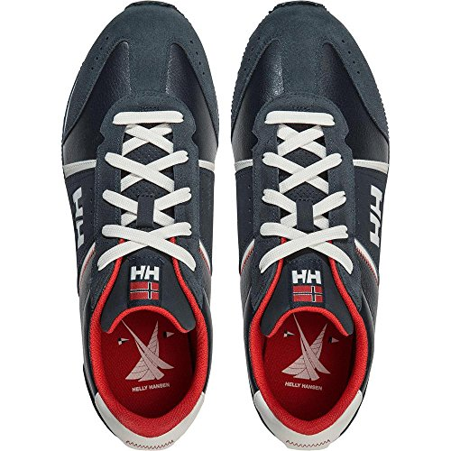 Helly Hansen Flying Skip, Mocassini Uomo, Nero (Black/White/Charcoal/990), 46.5 EU Blu (Navy/Off White/Alertr 597)