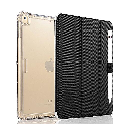Shockproof Heavy Duty Armor Case for Apple iPad Air 2 (Black) - 7