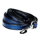 Blueberry Pet Durable Faux Leather Snake Print Embossed Dog Leash 5 ft x 3/4
