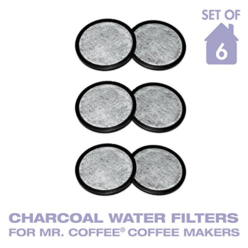 Water Filter Replacement Discs, Replaces Mr. Coffee WFF-3 Water Filter Discs- Set of 6 (Pitcher Water Disk)