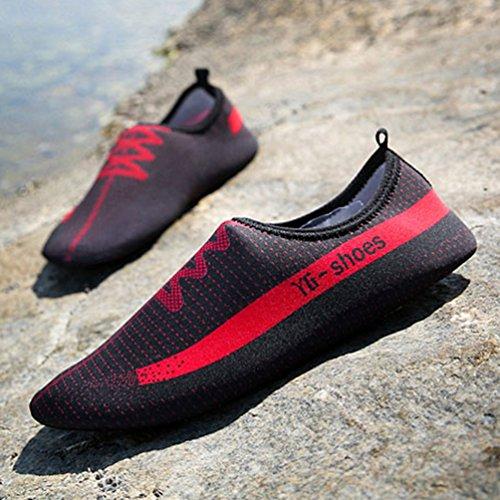 Aqua Agua Zapatos Unisex Playa Natación Zapatos Aire Zapatos al Mujeres Libre Rojo Plano w4xqgwp