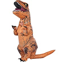 Halloween Inflatable T-Rex Dinosaur Blow Up Dress Up Cosplay Costume Suit