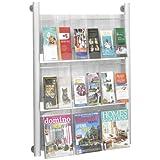 Safco Luxe  Magazine Rack, 9 Pocket (4134SL)