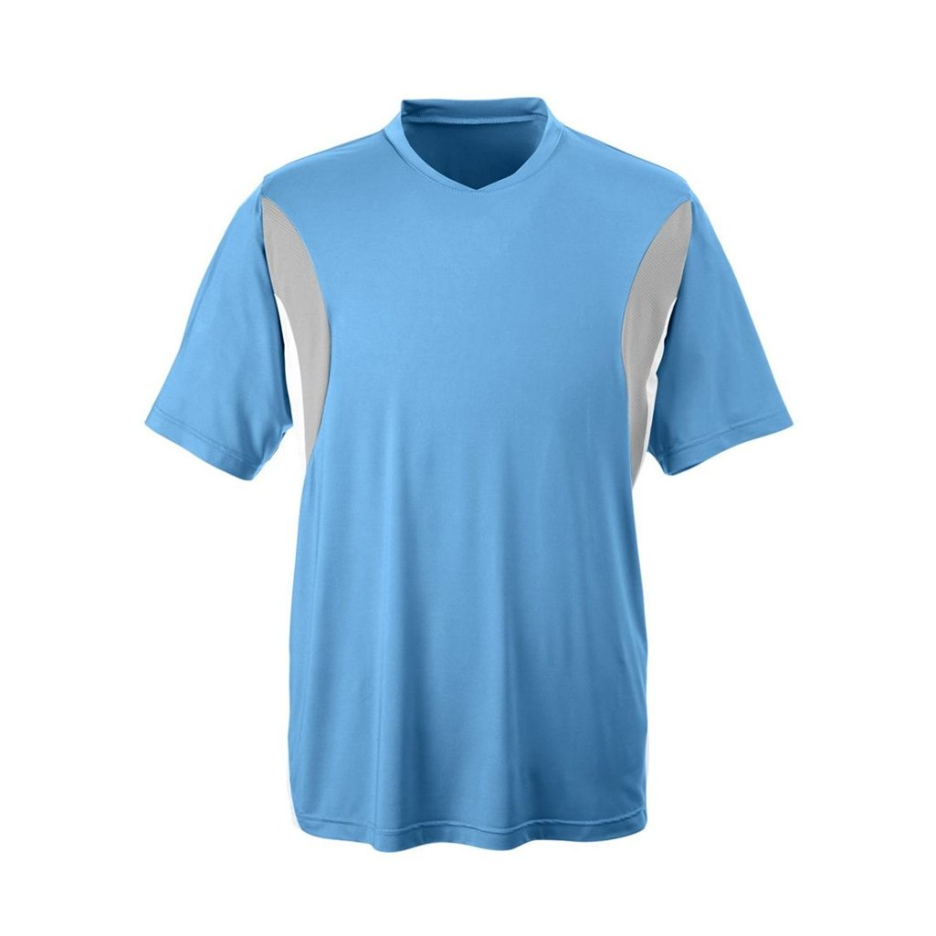 Ash City Apparel Team 365 Mens Short-Sleeve Athletic V-Neck All Sport Jersey (XXXX-Large, Sport Light Blue) by Ash City Apparel