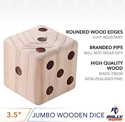 Giant Dice Game Set For Adults Kids Families Outdoor Wooden Dice