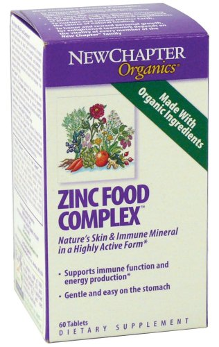 New Chapter Organics Zinc Food Complex Tablets, 60-Count